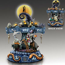 Tim Burton NIGHTMARE BEFORE CHRISTMAS Illuminated MUSICAL CAROUSEL New