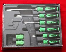 Snap On Green Tools Screwdriver Set 8 Pc.Combination Soft Instinct Handle New!