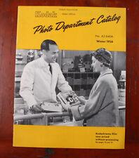 KODAK 1956 PHOTO DEPARTMENT CATALOG, WINTER/cks/215814
