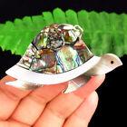 M67834+Natural+Rainbow+Abalone+Shell+Tortoise+Pendant+Bead+62x36x4mm