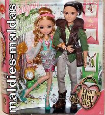 Ever After High 2er set Ashlynn & Hunter muñeca nuevo/en el embalaje original bfx07 Royal rebelde