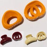 2 * Women Girls Hair Clip Hair Claw Clamp Headwear Hair Pin Tools (combo pack)