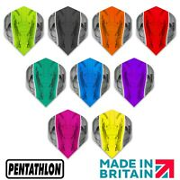 Pentathlon SILVER EDGE Dart Flights - Strong - Standard Shape - 5 set Value Pack