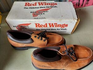 Vintage Red Wings Brown Leather Work Shoes, never worn, not safety toed, 8EE