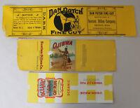 Lot of 3 Vintage Tobacco labels
