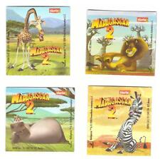 "Rare Très Belle Série de 4 Magnets Collector Herta 2008  "" MADAGASCAR 2 """