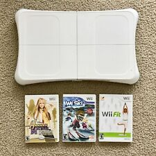 GENTLY USED Nintendo Wii Fit Balance Board + 3 Games: We Ski, Wii Fit, Hannah Mo