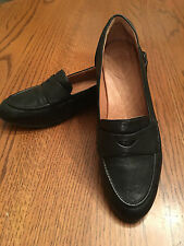 CLARKS Indigo Womens Charlie Penny Loafers Black Leather Shoes 61263 size 10 M