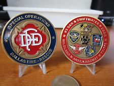 Dallas Fire Department Special Operations K9 SAR HAZMAT ARFF FDD Challenge Coin