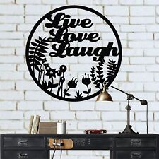 Metal Wall Decor, Metal Wall Art, Live Love Laugh, Home Office Decoration