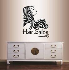 Vinyl Decal Hair Salon Girl Model Stylish Hair Style Hairdo Wall Sticker 662