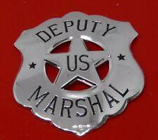 More details for sterling silver franklin 1987 police badge deputy us marshal 16.5g