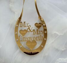 50 YEAR GOLDEN WEDDING ANNIVERSARY  HORSE SHOE MR & MRS PERSONALISED TO ORDER