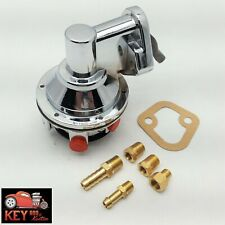 Small Block Chevy Chrome Fuel Pump Mechanical 80 Gph Sbc 305 350 400 Fittings