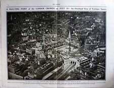 1919 Birds Eye View Of Trafalgar Square, London Peace Celebrations