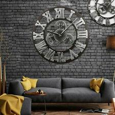 Retro Wanduhr Vintage Runde Wohnzimmer Uhr Designuhr Ziffern Dekouhr Holzhandwer