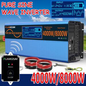 DC 24V To AC 110V-120V Pure Sine Wave Power Inverter 4000W 8000W LCD Converter