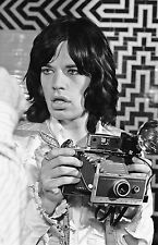 """MICK JAGGER ON SET OF """"PERFORMANCE,"""" Photograph by Baron Wolman, SIGNED"""