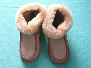 Lambskin - Slippers, Super Warm Lined with Fur, Slippers Size 41-45
