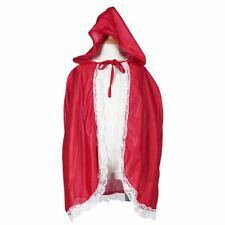 Little Red Riding Hood Costume Girls Red Cap Cloak Children Anime Cosplay Cape C