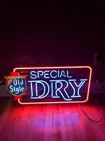 "RARE HEILEMANS 30"" OLD STYLE DRY BEER NEON LIGHT SIGN VINTAGE BAR ADVERTISING"
