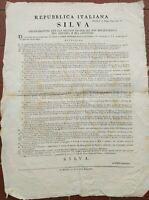 1804 78) MANIFESTO SU DIFESA DEI CARCERATI SESTOLA MIRANDOLA AULLA CORREGGIO...