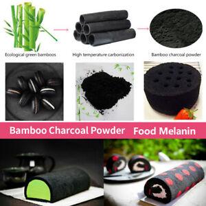 20g Black Bamboo Charcoal Edible Activated Carbon Powder Macarone Cake Bake