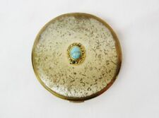 Vintage compact powder box Seventeen Hand mirror / Puff box / Flapjack from 80-s