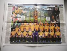Poster 2015 Wallabies World Cup & Micheal Chieka liftout souvenir Rugby Union