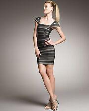 HERVE LEGER Striped SANDRA Bandage Dress NWT Size:M~Ret:$1,695~AUTHENTIC!!!