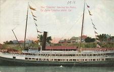 San Pedro CA * Cabrillo Leaving for Catalina Island 1911 * Boat