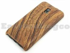 Back Cover Case for LG Optimus 2X P990 Brown Wood Wooden