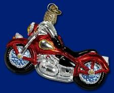 Motorcycle Ornament Glass Old World Christmas 46008 15