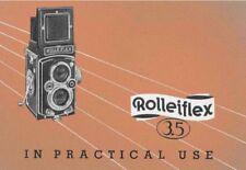 ROLLEIFLEIX 3.5 INSTRUCTION MANUAL FREE SHIP