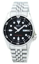 Seiko Divers Black Dial Stainless Steel Silver Mens Watch SKX013K2 LIMITED