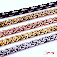 """8""""-40""""Top Quality Mens Stainless Steel Necklace or Bracelet Plat Byzantine Chain"""