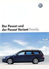 VW PASSAT FAMILY B5 Sondermodell Prospekt 2002 +++++++++++++++++++++++++++++++++