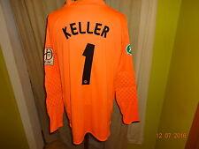"Dynamo Dresden Jako Torwart Matchworn Trikot 08/09 ""VEOLIA"" + Nr.1 Keller Gr.XL"