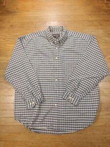 Eddie Bauer Men's Plaid Button up shirt, Size Large