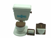 Calico Critters Sylvanian Families Viintage Flushing Toilet REAL SOUNDS RARE HTF
