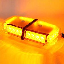 24 LED 12v DC Magnetic Base Oval Emergency Mini Bar Strobe Light -Amber