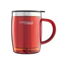 Genuine Termo Taza De Escritorio 450ML Rojo no derramar café taza de té leche aislada Nuevo