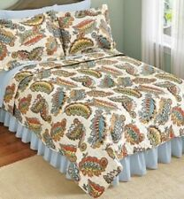 NEW Autumn Paisley Leaf 4 piece KING Comforter Set