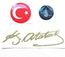 1x  ATATÜRK 225x65mm Unterschrift Imza Aufkleber Sticker Türkei Türkiye CHP MHP