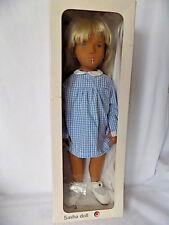 "Sasha Blond Gingham Doll 107 Blue Dress with Tag 16"" H Vintage"