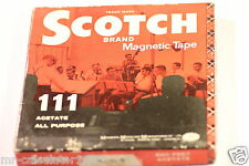 SCOTCH  MAGNETIC RECORDING TAPE REEL-TO-REEL 111 ACETATE ALL PURPOSE  PLASTIC