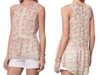 Anthropologie Channeled Lace Top Small 2 4 Nude PInk Breezy Sheer Breathable NWT
