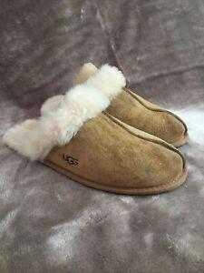 Genuine Ugg Scuffette Slippers - Classic Chestnut UK Size 6 (UK SELLER)