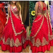 Net Lehenga Choli Indian Wedding Party Wear Lengha Woman Skirt Top Sari Saree