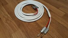 Fisual S-Flex White Studio Grade 2x2.5mm Speaker Cable 2m pair - HQ banana plugs
